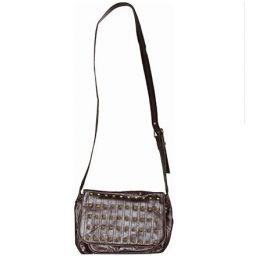 Split rocker shoulder bag